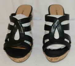 City Classified Layka S Black Sandal Wedge Heel Size 6 And Half image 2