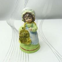 *FINAL MARKDOWN* Vtg 1979 Jasco Cutie Belle Bisque Porcelain Girl Bell F... - $0.99