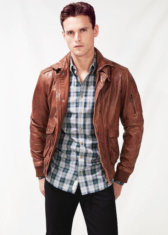 New Men's Genuine Lambskin Leather Jacket  Slim fit Biker Motorcycle jacket-G26