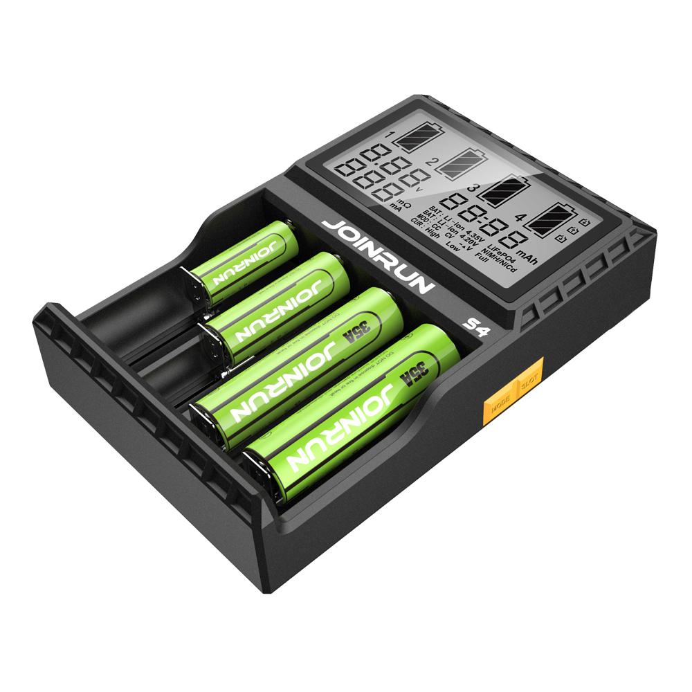 JoinRun S4 4Slots EU Plug LCD Display Automatic Rapid Intelligent Li-ion/NI-MH/N