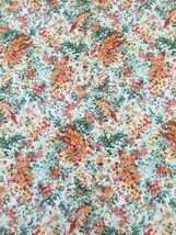 Garden Delights - Impressionist Floral - Coral & Gold  - Cotton Fabric 1... - $4.55