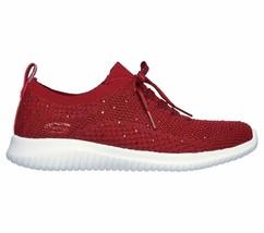 Skechers Red Shoes Memory Foam Women Slip On Comfort Casual Sporty Walking 13099 image 2