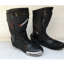 Black vr 46 Racing Motorbike leather boots CE Approved  - $136.62