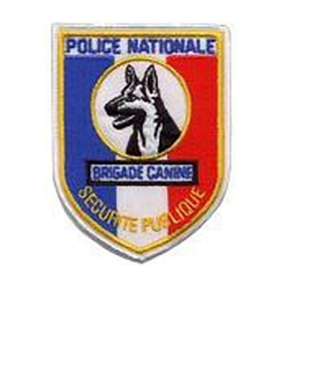 nationale securitee publique brigade canine french national police k 9 unit 4.25 x 3.25 in 9.99