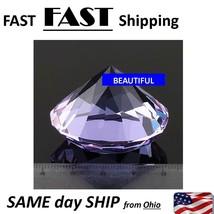 purple crystal shaped fake diamond - $11.69