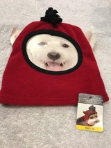 Dog Hat Size L/XL Pet Puppy Clothing Red With Black Trim Ski Hat - $8.33