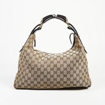 Gucci GG Canvas Leather Medium Hobo Bag - $645.00