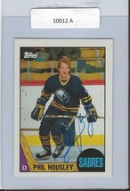 Phil Housley 1987 Topps Autograph #33 Sabres - $14.89