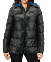 Women's Slim Fit Lightweight Zip Insulated Packable Puffer Hooded Jacket image 4