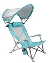 GCI Outdoor Waterside SunShade Folding Beach Recliner Chair with Adjusta... - $64.46