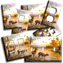 WHITETAIL DEER COUPLE FALL SEASON LIGHT SWITCH WALL PLATE OUTLET CABIN A... - $10.99+
