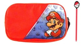 Nintendo Super Mario DS Carrying Case Carry Bag Zippered with Stylus Pen - $13.71