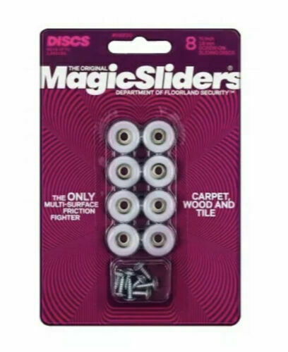 ROUND MAGIC SLIDER 8 PACK - 3/4inch 19mm SCREW  SEALED NEW