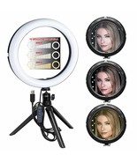 "8"" Inch LED Ring Light Kit + Mini Tripod + Ball Head for Cameras & Camco... - $35.99"