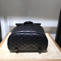 100% AUTHENTIC CHANEL 2017 BLACK QUILTED LAMBSKIN URBAN SPIRIT BACKPACK SHW image 3
