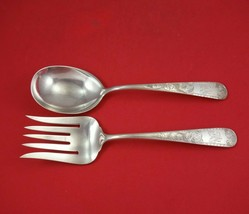 "Mayflower by Kirk Sterling Silver Salad Serving Set 2pc FH All Sterling 9 1/2"" - $259.00"
