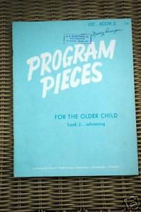 Primary image for Program Pieces for the Older Child Book 2 Advancing Sheet Music