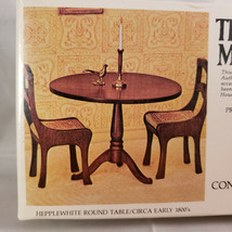 House Of Miniatures Hepplewhite Round Table, New Old Stock Model 40005 - $8.80