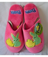 Peeps Pink Womens Slippers Plush Bunny Chick Easter 5/6 7/8 9/10 Just Bo... - $17.24