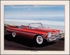 1959 Dodge Custom Royal Conv. Orig Art Print Lithograph - $21.02