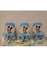 Mickey Mouse | Baby Shower Decoration | A set of 12 Blue Bottles Favors ... - $17.99