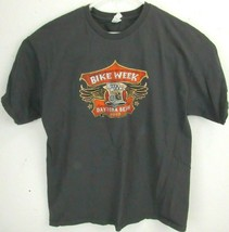 Alstyle Mens Motorcycle T-Shirt Size Large Bike Week 2013 Daytona Beach Florida - $9.89