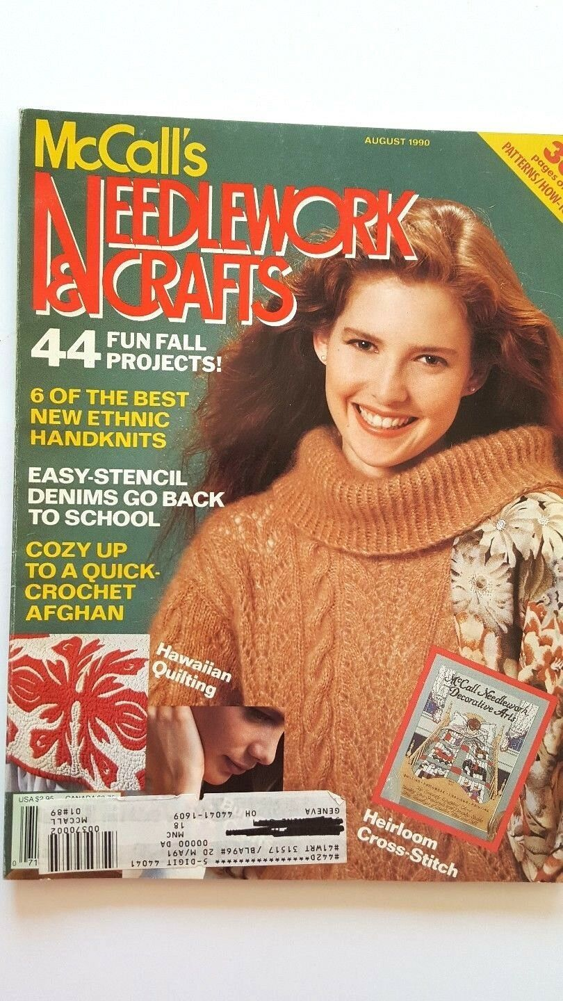 Primary image for Vintage McCalls Needlework & Crafts Magazine August 1990 Fall Projects
