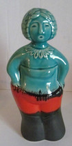 Vintage Mid Century Turquoise Red, & Black Lava Glazed Ceramic Pottery o... - $55.00