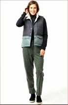 new CARVE DESIGNS women Zane vest jacket OWZV54-378 moss green grey sz L - $73.45