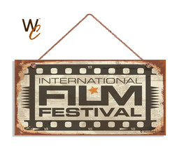 International Film Festival Sign, Retro CINEMA Sign, Move Room 5x10 Wood... - $11.39