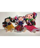 "9"" Mexican Rag Dolls Artisan HandMade Maria Costume Fair Trade  Toy - $12.59"