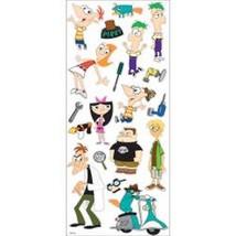 Lot of 5 Ek Disney Large Flat Stickers Phineas & Ferb -5660032 - $12.87