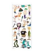 Lot of 5 Ek Disney Large Flat Stickers Phineas & Ferb -5660032 - $12.87