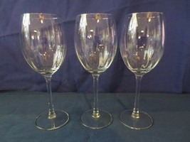 "3 Beautiful 8 3/4"" Tall Stemmed Clear Crystal Optic Wine Glasses - $30.00"