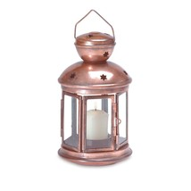 Outdoor Lantern, Iron Colonial Candle Lamp Hanging Outdoor Lanterns Deco... - £14.95 GBP