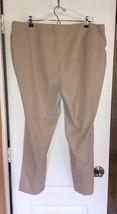 Calvin Klein Tan Pants Gold Tone Hardware Zipper Pockets Plus Size 16W New - $35.90