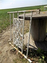Wrought Iron Fence Panel Architectural Salvage Gate Gothic Garden Art Vi... - $199.00