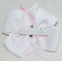 Unbranded Girl Infant Toddler Headband Removable Hair Bow Pink PolkaDot Curly Qs image 7