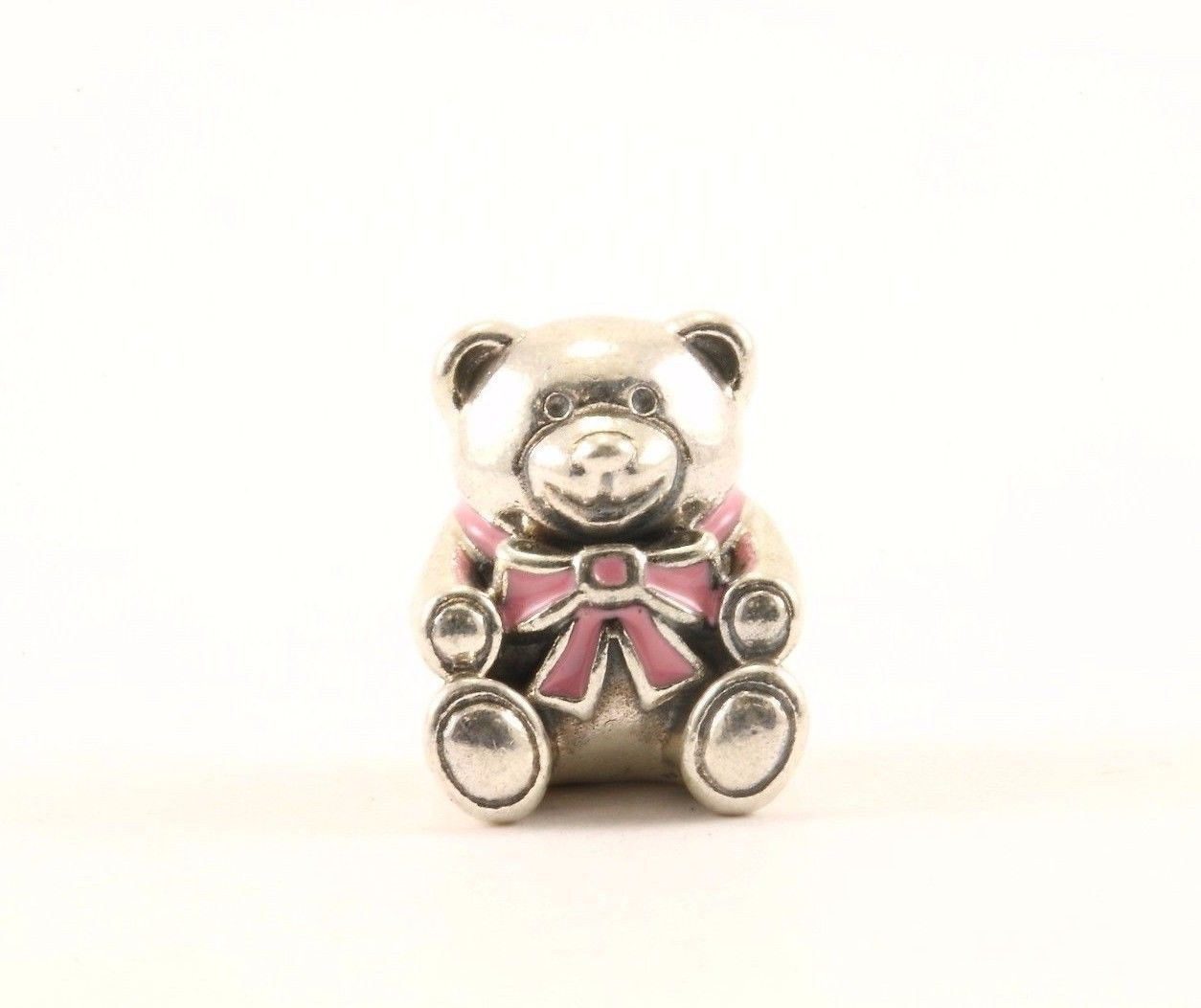 Authentic Pandora It's A Girl Bear #791124 Bead Charm Sterling 925 CH 352-E