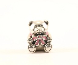 Authentic Pandora It's A Girl Bear #791124 Bead Charm Sterling 925 CH 352-E - $42.24