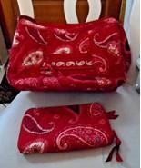 Vera Bradley medium shoulder bag and zip around wallet in Mesa Red - $35.00