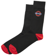 TFL™6303 Mens Licensed Mind the Gap Roundel™ Embroidery Sock Size 6-11 - $5.99