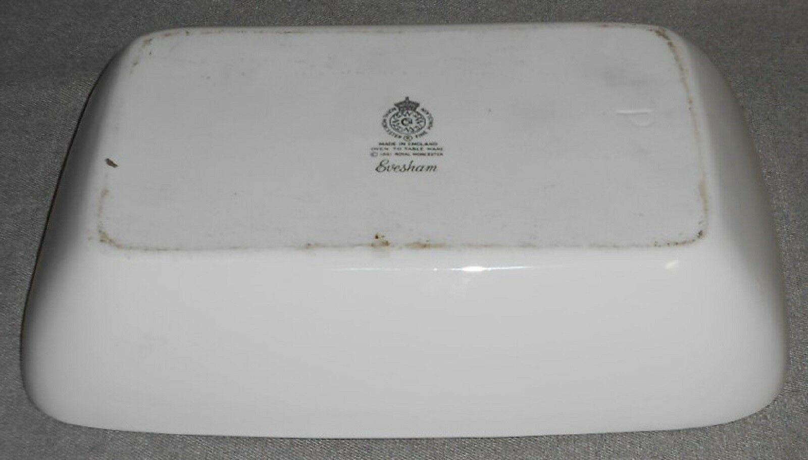 Royal Worcester EVESHAM GOLD PATTERN Rectangular Baking Dish MADE IN ENGLAND image 4