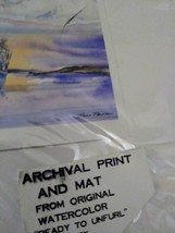 "Archival Print and Mat  From Original Watercolor Sailing Boat ""Ready To Unfurl"" image 2"
