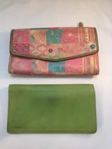 Womens FOSSIL Mariposa Butterfly Ladies Wallet w Green Checkbook - $20.78