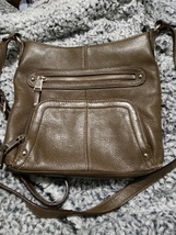Tignanello brown leather crossbody shoulder bag with built in wallet - $19.00