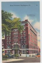 Hotel Vermont, Burlington VT Linen Postcard - $7.95