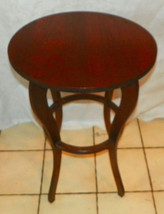 Solid Walnut Round Lamp Table  (T653) - $299.00