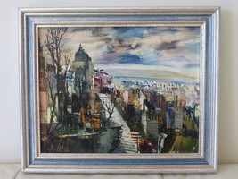 French Artist Marc Selva Authentic Signed and Framed Oil on Canvas Painting - $500.00