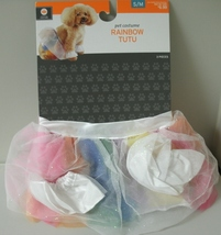 RAINBOW TUTU Pet Costume - NEW - Size Small to Medium  3pc Velcro Hallow... - $6.99